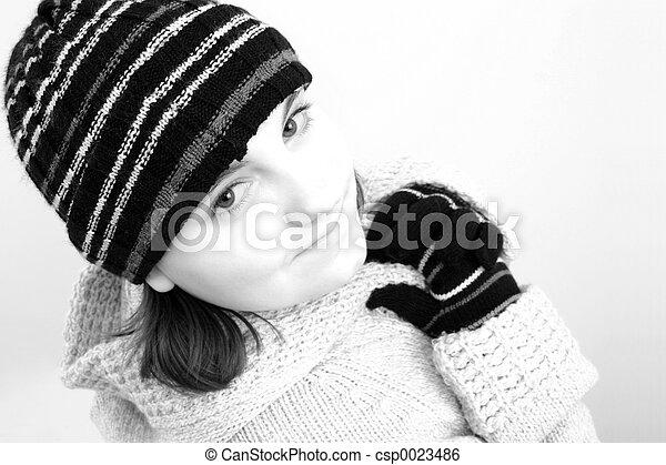 Winter Teen Girl - csp0023486