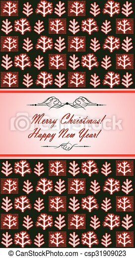 Winter template for New Years greeting - csp31909023
