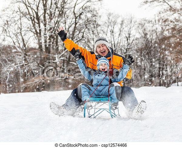 Winter time - csp12574466