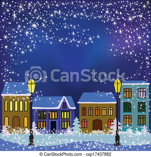 winter town - csp17437882