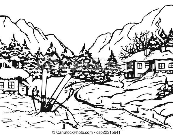 Winter town - csp22315641