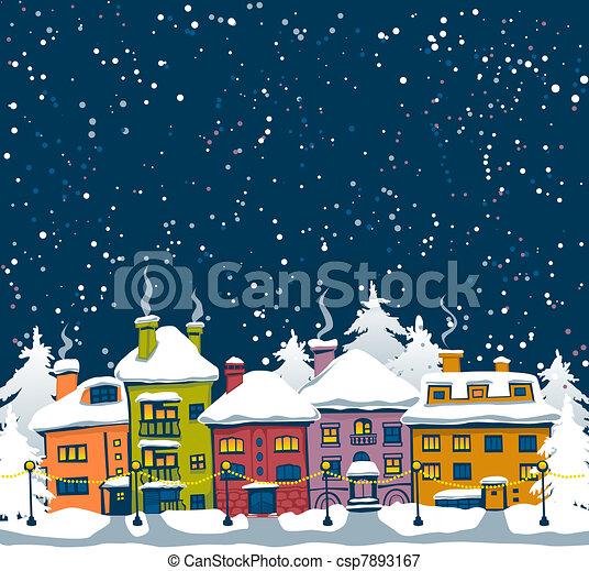 Winter town - csp7893167