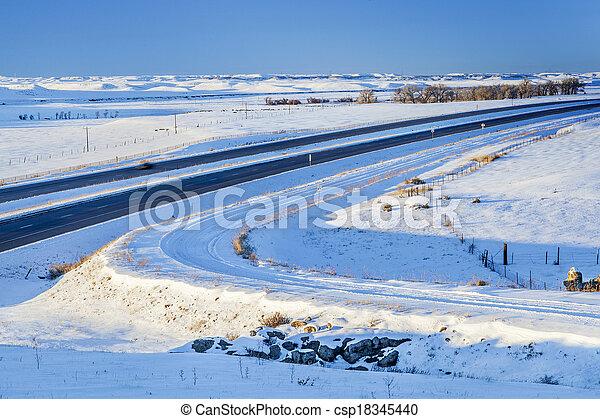 winter travel in Colorado - csp18345440