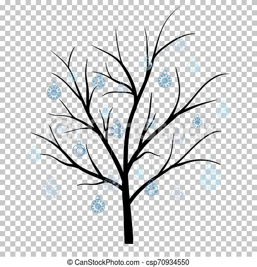 Black and white winter trees Clipart | k43488005 | Fotosearch