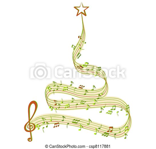 Winter tree of music clipart search illustration drawings and winter tree of music csp8117881 voltagebd Images