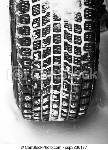 Winter tyre on a vehicle - csp3236177