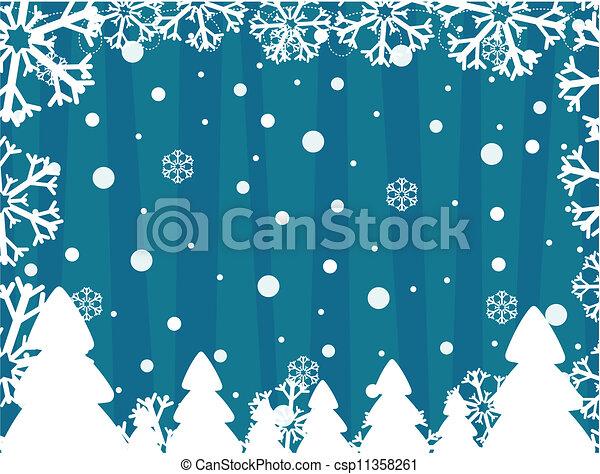 winter vector background - csp11358261