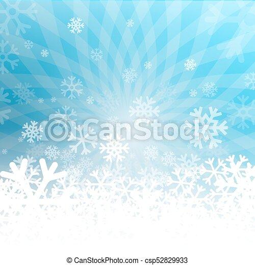 Winter Vector Background - csp52829933