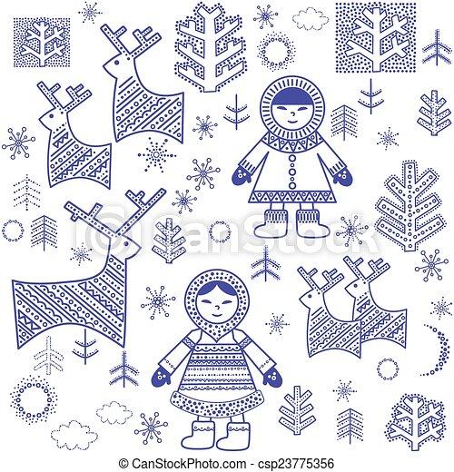 Winter wallpaper with eskimo clipart vector search illustration winter wallpaper with eskimo vector voltagebd Choice Image
