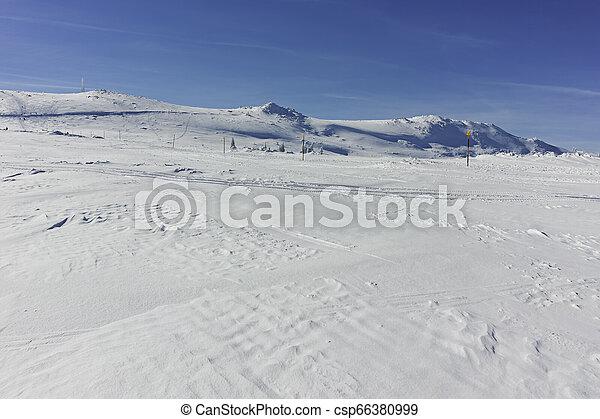 Winter wiew of Vitosha Mountain, Bulgaria - csp66380999
