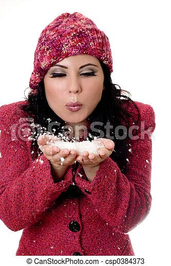Winter Woman - csp0384373