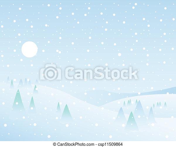 winter wonderland - csp11509864