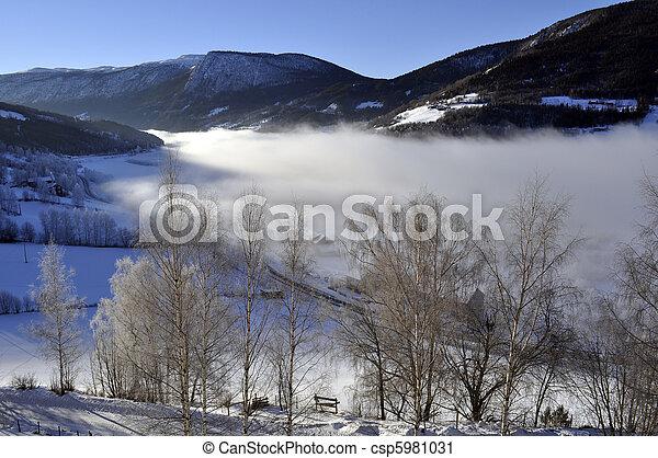 winterlandscape in morningsun - csp5981031