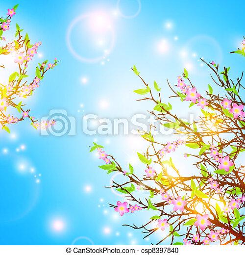 wiosna, tło - csp8397840