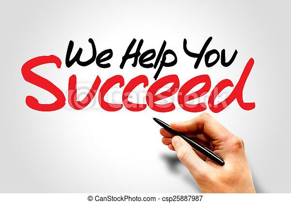 Wir helfen dir beim Erfolg - csp25887987