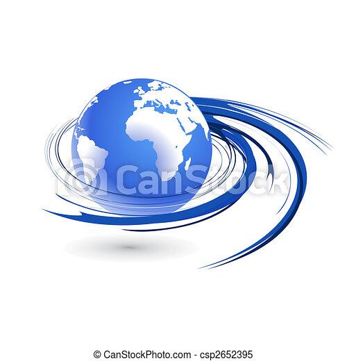 Wirbel Globus - csp2652395
