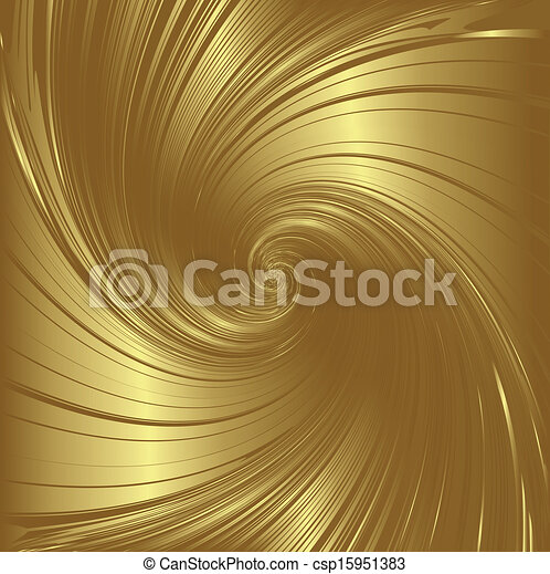 wirbel, gold - csp15951383