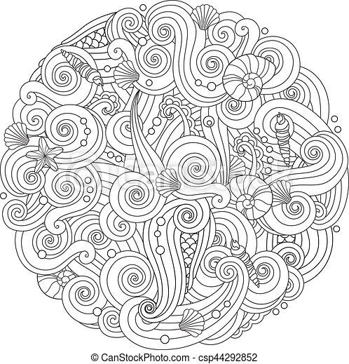 Berühmt Mandala Abstraktes Galerie - Framing Malvorlagen ...