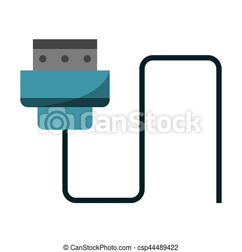 Wire cable computer plug vector illustration eps 10 vector ...