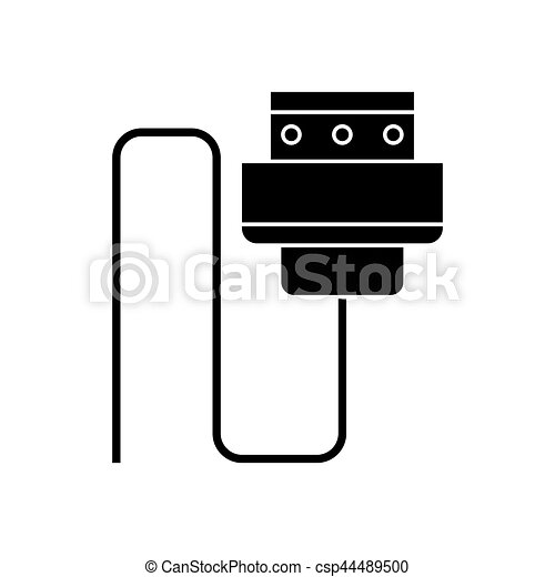Wire cable computer plug pictogram vector illustration eps 10.