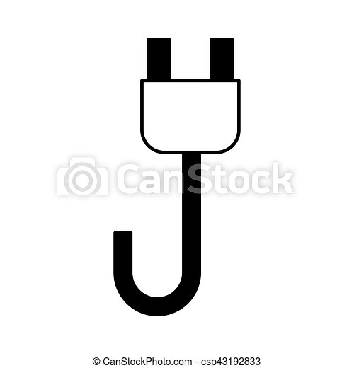 Wire cable energy plug icon vector illustration design vectors ...