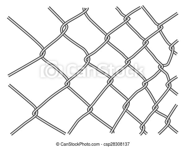 Wire fence fragment isolated on a white background vectors - Search ...