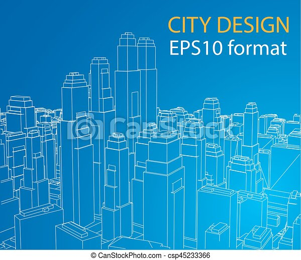Wire frame city blueprint style vector wire frame city clip wire frame city blueprint style vector malvernweather Choice Image