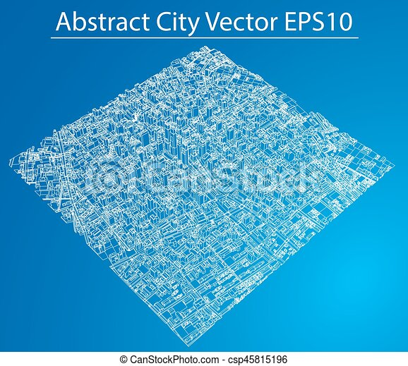 Wire frame city blueprint style vector wire frame city eps wire frame city blueprint style vector malvernweather Gallery