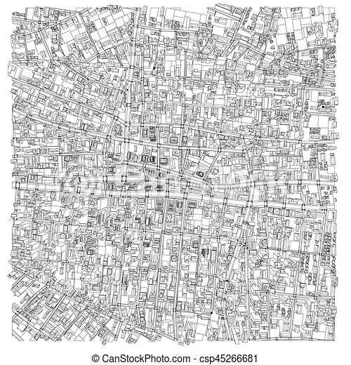 Wire frame city blueprint style vector wire frame city vector wire frame city blueprint style vector malvernweather Gallery