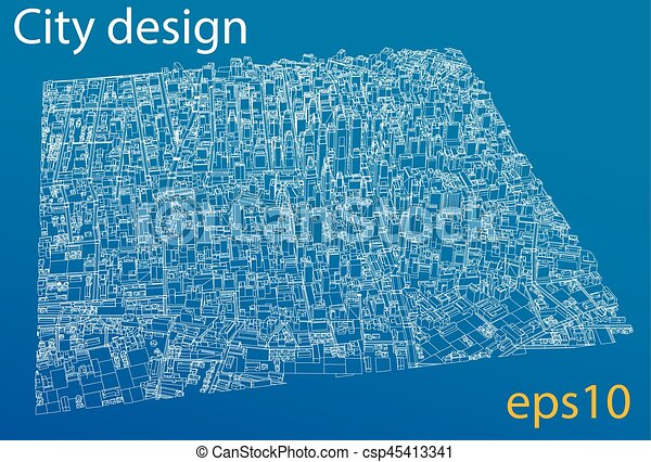 Wire frame city blueprint style vector wire frame city blueprint wire frame city blueprint style vector malvernweather Images