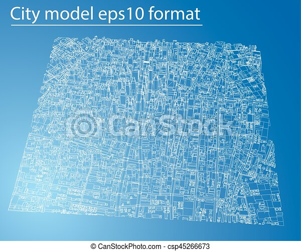 Wire frame city blueprint style vector wire frame city wire frame city blueprint style vector malvernweather Images