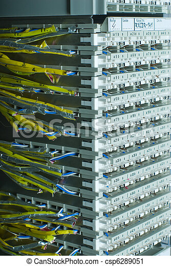 Wire mdf. Wire main distribution frame in mobile switching... stock ...