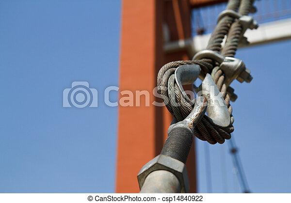 Wire rope bridges. - csp14840922