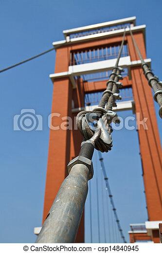 Wire rope bridges. - csp14840945