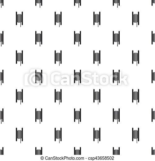 Wire spool pattern, simple style. Wire spool pattern. simple ...