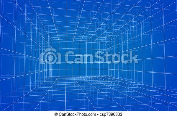 wireframe, matrix, hintergrund - csp7396333
