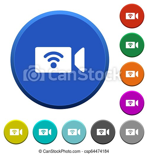 Wireless camera beveled buttons - csp64474184