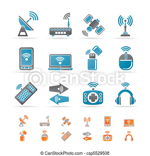 Vector of Wireless, communication technology - Wireless and ...