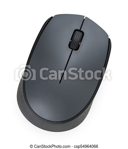 0b1475bd326 Wireless computer mouse isolated on white background, close up, top view. -  csp54964066
