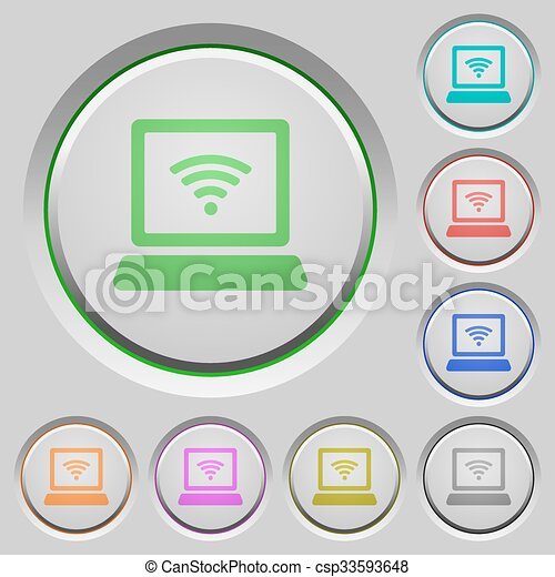 Wireless computer push buttons - csp33593648