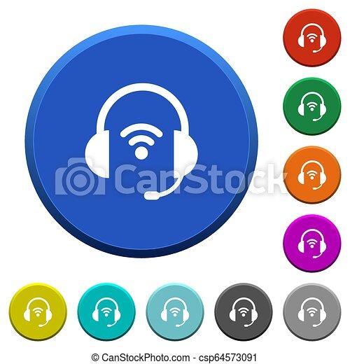 Wireless headset beveled buttons - csp64573091