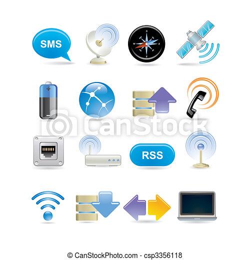 wireless icon set - csp3356118