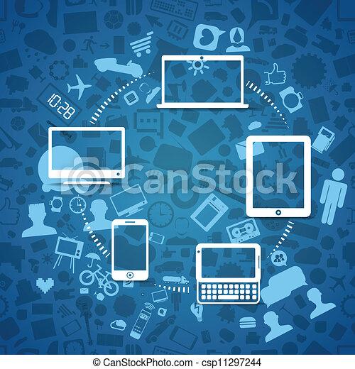 Wireless information fransfer across modern gadgets - csp11297244