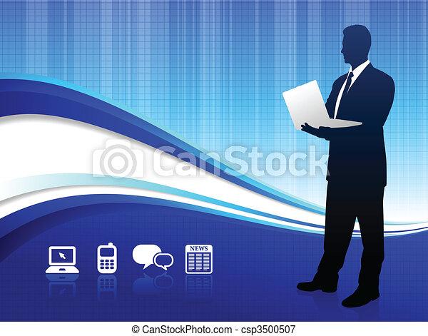 Wireless internet background - csp3500507