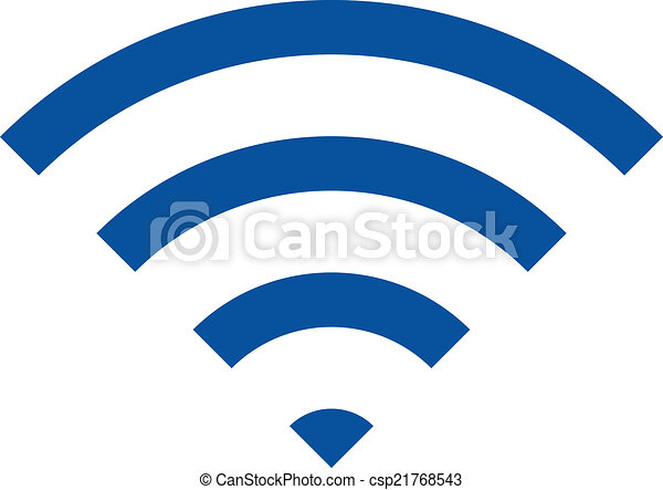 Wireless Internet Network Symbol Wireless Internet Concept Icon Image