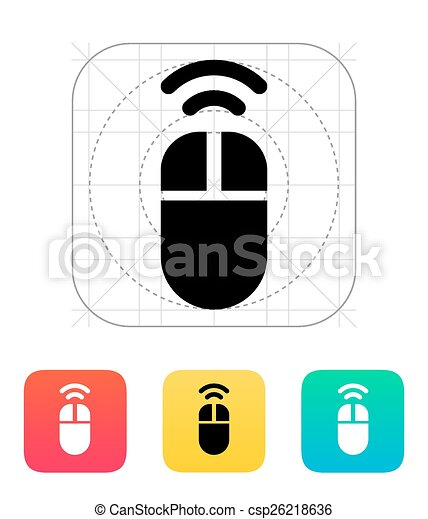 Wireless mouse icon. Wireless mouse icon on white background. vector ...