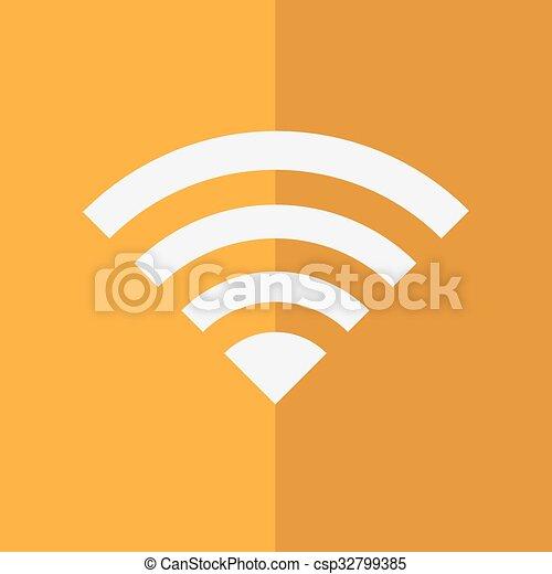 Wireless Network Symbol Of Wifi Icon Vector Illustration