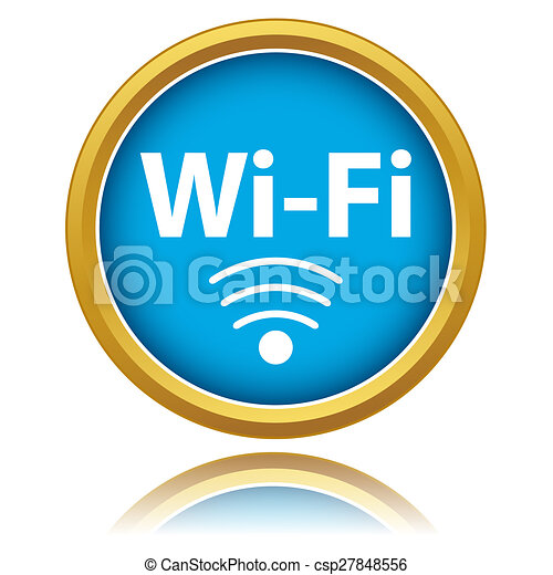 Wireless Network Symbol On A White Background