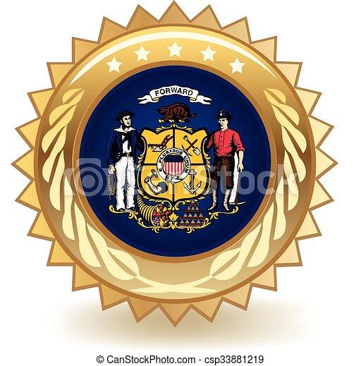 Wisconsin Badge - csp33881219