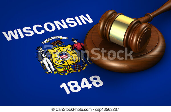 Wisconsin Legal System And Law Concept - csp48563287